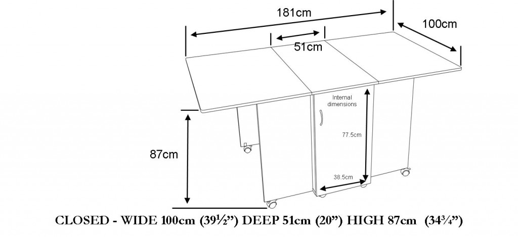 2005 Maxi hobby table dimensions